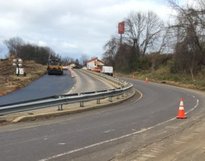Widening the Street Rd. ramps for U.S. 1 South.