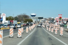 March 2019 - New northbound traffic pattern, with the right turn lane for continued access to businesses.
