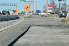 March 2019 - The top layer of asphalt pavement is removed from northbound U.S. 1 in the first step of reconstruction the highway. The original concrete pavement under the overlay will be removed next.