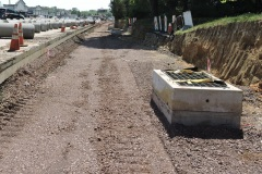 May 2021 - A new stormwater drainage inlet in place along southbound U.S. 1.