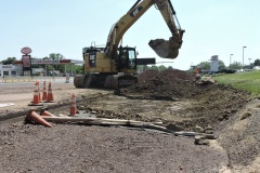 May 2021 - Excavation to widen southbound U.S. 1 near Street Road.
