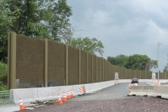 June 2021 - Sound wall panels in place  along southbound U.S. 1 between Street Road and Old Lincoln Highway.