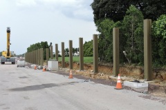 June 2021 - Clearing vegetation for widening U.S. 1 north of the Neshaminy exit.