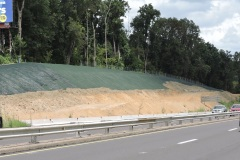 August 2021 - Erosion netting on a section of embankment under construction along southbound U.S. 1.