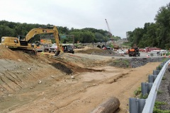 August 2021 - Excavation to widen southbound U.S. 1 approaching the Neshaminy Creek.